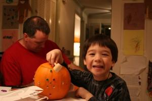 Mac and his pumpkin